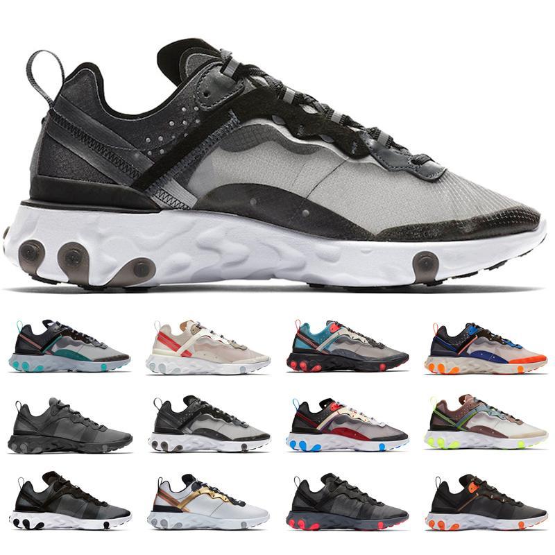 Compre Nike Epic React Element 87 UNDERCOVER X Próximamente React Element 87 Pack Zapatillas De Deporte Blancas Marca Hombre Mujer Entrenador Hombre
