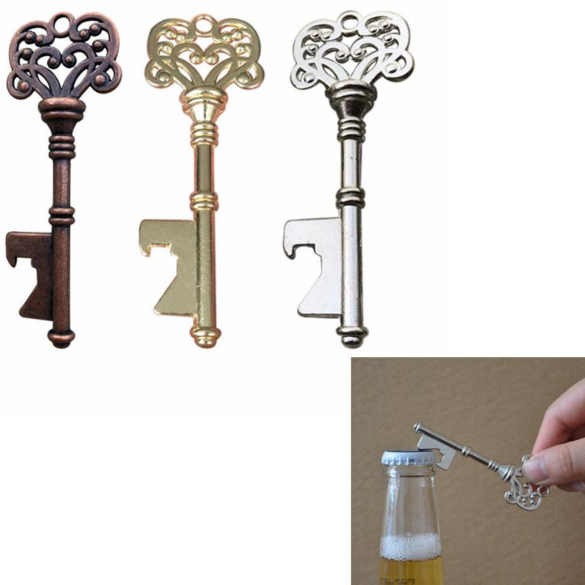 key Shaped Bottle Opener Keychain shaped zinc alloy Travel Outdoor Picnic Party Bar Tools Key Bottle Opener ZZA294