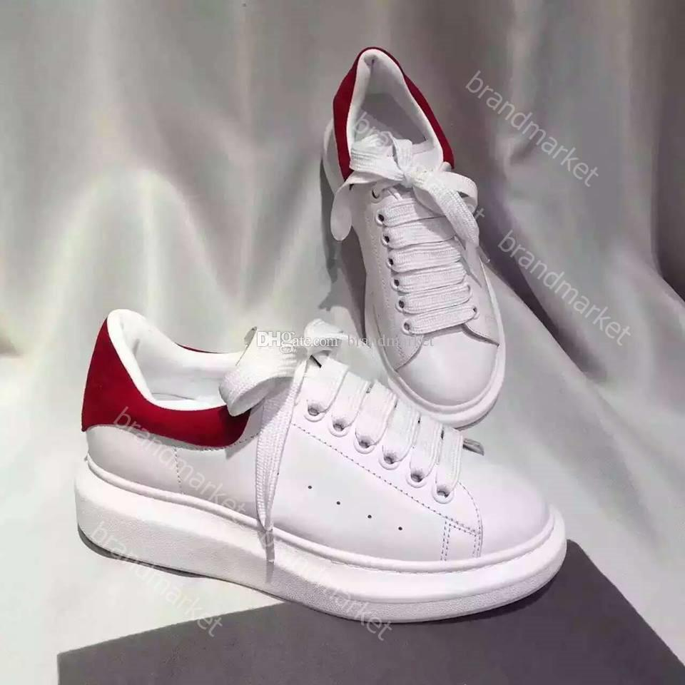 Wholesale New Style Platform Woman Sneaker White Man Casual Shoes Fashion Mixed Colors Low Cut Designer Shoes Drop Shipping Size 35-46