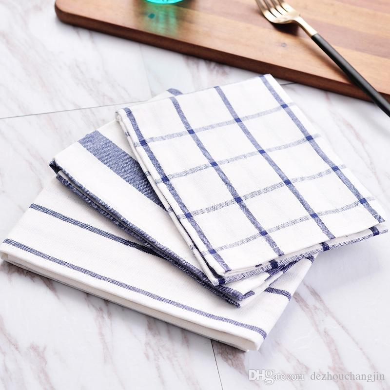 40 60cm Cotton Flowers Printed Napkins Dish Kitchen Towel Cleaning