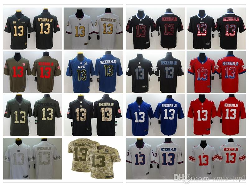 info for de41c 6d34b 2019 Mens 13 Odell Beckham Jr New York Giants Football Jersey 100% Stitched  Embroidery Giants Odell Beckham Jr 26 Color Rush Football Shirts