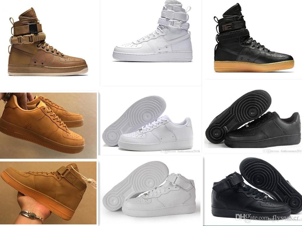 new arrival 491f6 42abe Acquista SF AF1 Scarpe Da Alpinismo Uomo Donna Designer Sport Scarpe Da  Corsa Uomo Sneakers Casual Nero Bianco 36 46 A  57.87 Dal Flysnaker    DHgate.Com