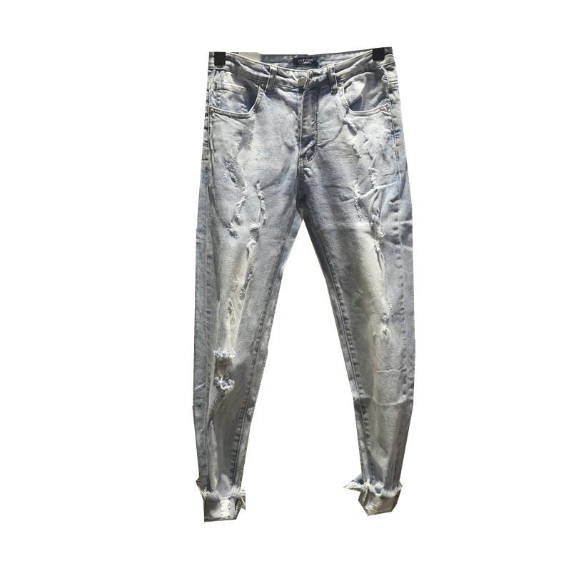 0ce95065 2019 2019 Mens Distressed Ripped Biker Jeans Slim Fit Motorcycle Biker Denim  For Men Fashion Designer Hip Hop Mens Jeans Good Quality From Weixinbo, ...