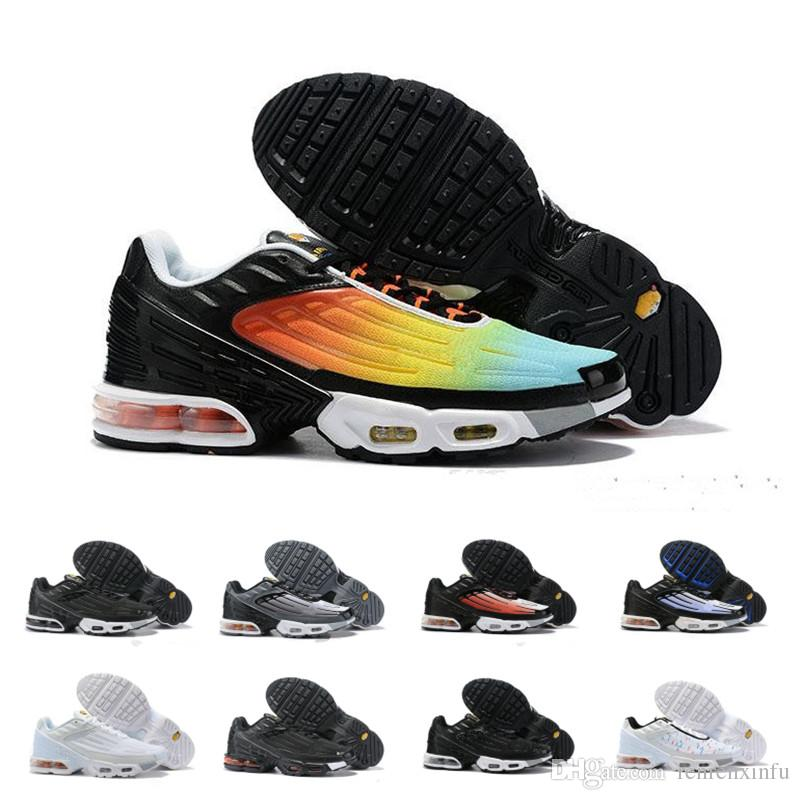 Nike Air Max TN Plus III 3 Hombres Mujeres desiger TUNED Air Cushion Zapatos para correr Clásico deportivo Negro Blanco Sport Shock Sneakers requin