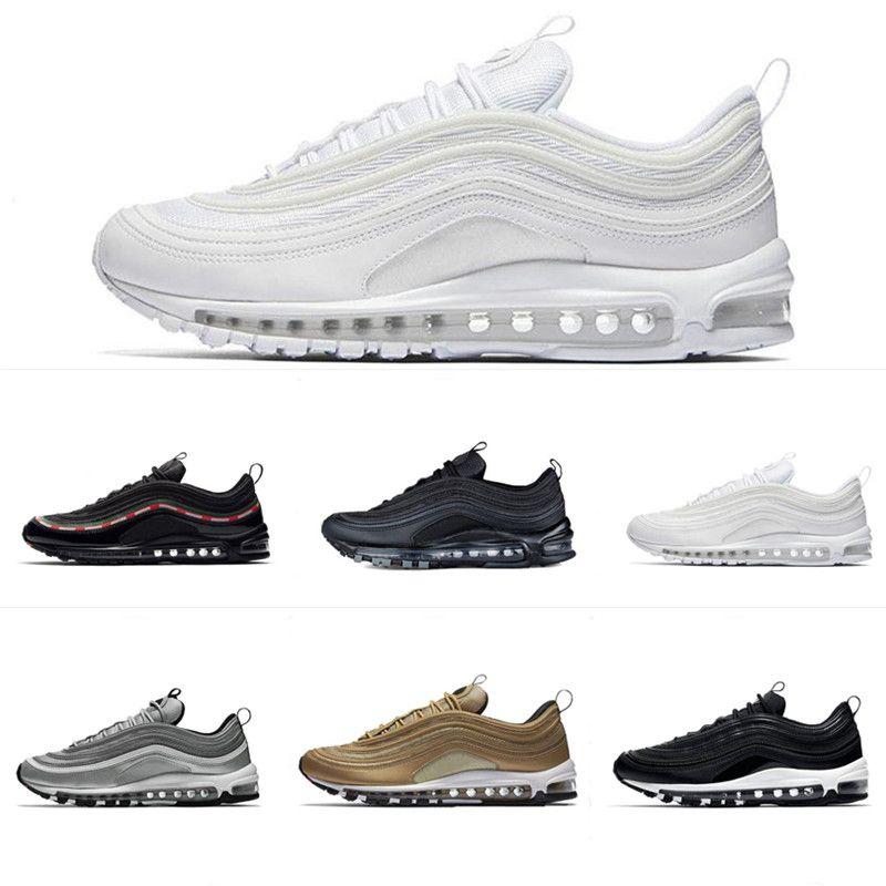 nike air max 97 2018 zapatos para hombre moda casual zapatos blanco negro arco iris hombres zapato top no en caja 36 45
