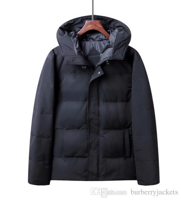Nuovo stile uomini Giacche invernali in piuma d oca cappotti caldo piumino da uomo con cappuccio Outdoor giù parka 00815