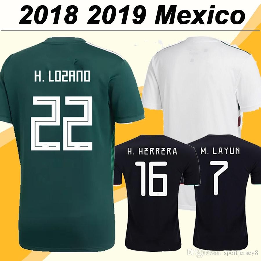 8d16492dd 2019 2018 Mexico CHICHARITO H. LOZANO Soccer Jerseys GUARDADO Home Mens  Away Football Shirts 2019 National Team JIMENEZ H. HERRERA LAYUN Uniforms  From ...
