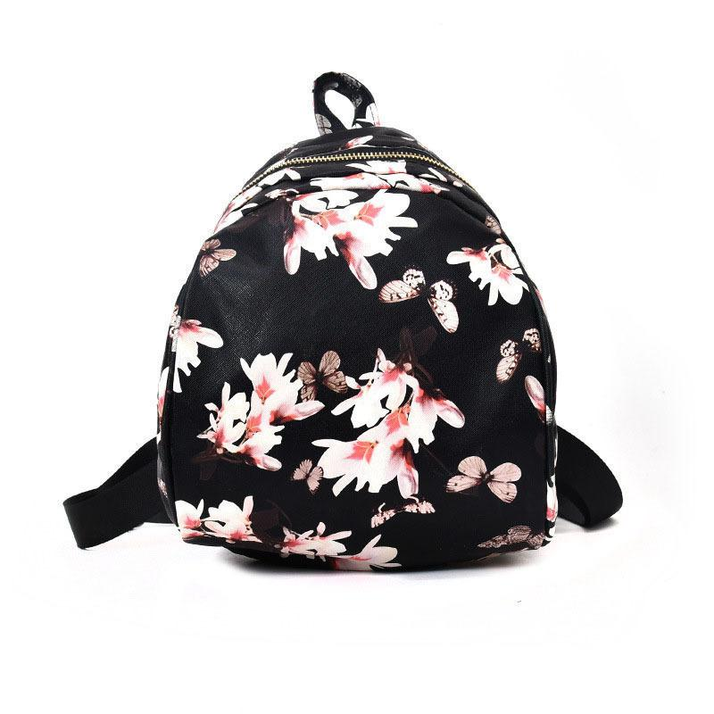 0c470ae67d2e Good Quality New Women Butterfly Flower Small Backpack Printed Pu Leather  Lady Cute Travel Female Schoolbag Rucksacks For Girls Gregory Backpacks  Army ...