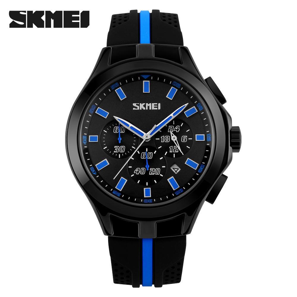 593b602fbd7 Fashion Chronograph Sport Watch Mens Watches Top Brand Luxury Quartz Watch  Reloj Hombre Relogio Masculino SKMEI 2018 Clock Male Digital Watches Gold  Watch ...