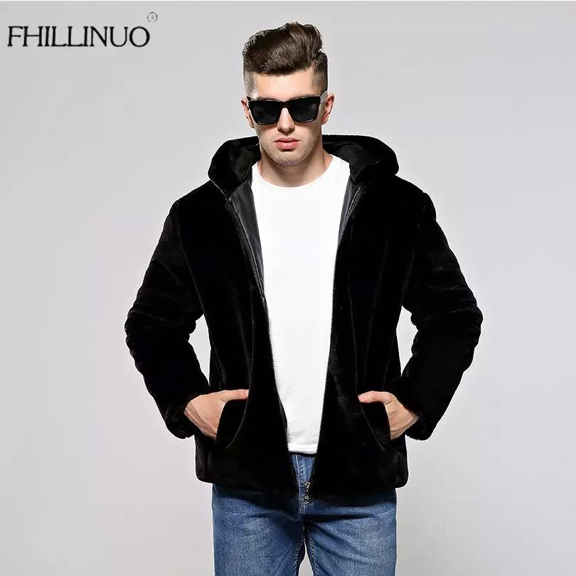 16cefc23d79 2019 FHILLINUO 2017 Faux Fur Coat Men Silver Color Winter Warm Soft  Comfortable Mink Fur Hooded Jacket Male Outwear Zipper Coats From Missar