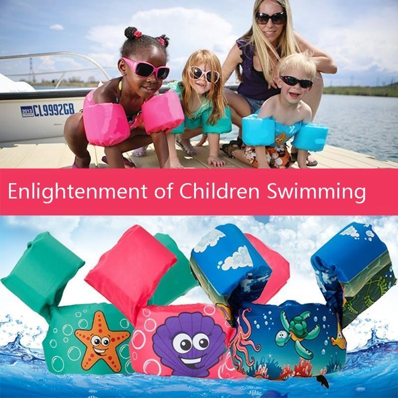 Safe Non Inflatable Baby Swimming Life Vest Kids Arm Bands Swimming Ring Swimsuit Arm Floats Children Life Jacket 1-6 Years old