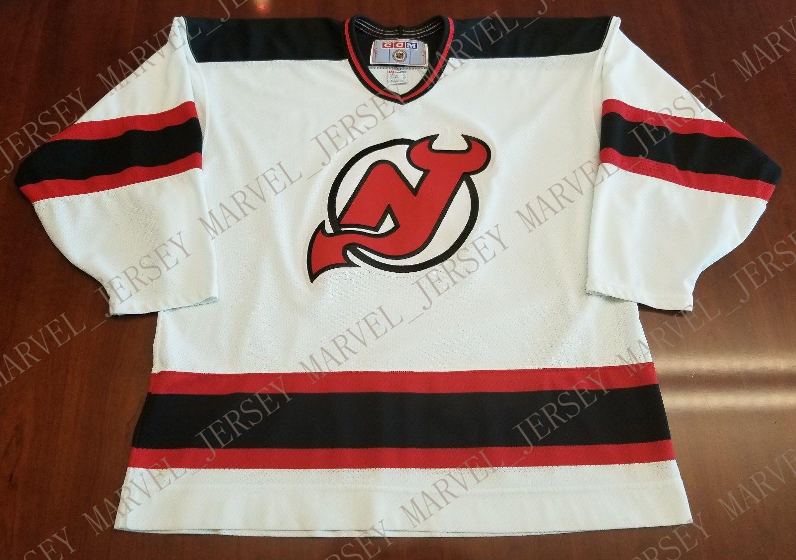 6b6af720b0d 2019 Cheap Custom New Jersey Devils Vintage CCM Jersey Stitched Retro  Hockey Jersey Customize Any Name Number XS 5XL From Marvel jersey
