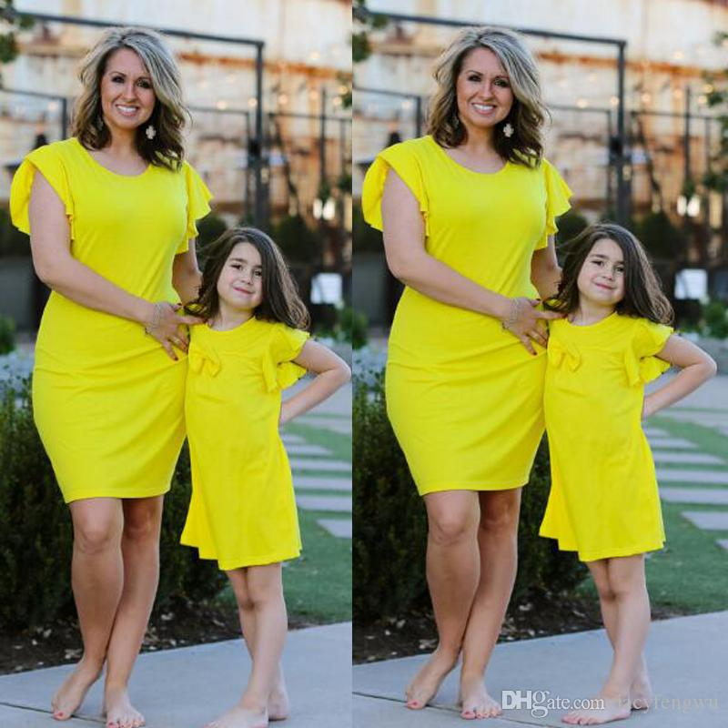 233ba689050d Mother And Daughter Clothes Family Matching Outfit Mommy Me Dresses ...