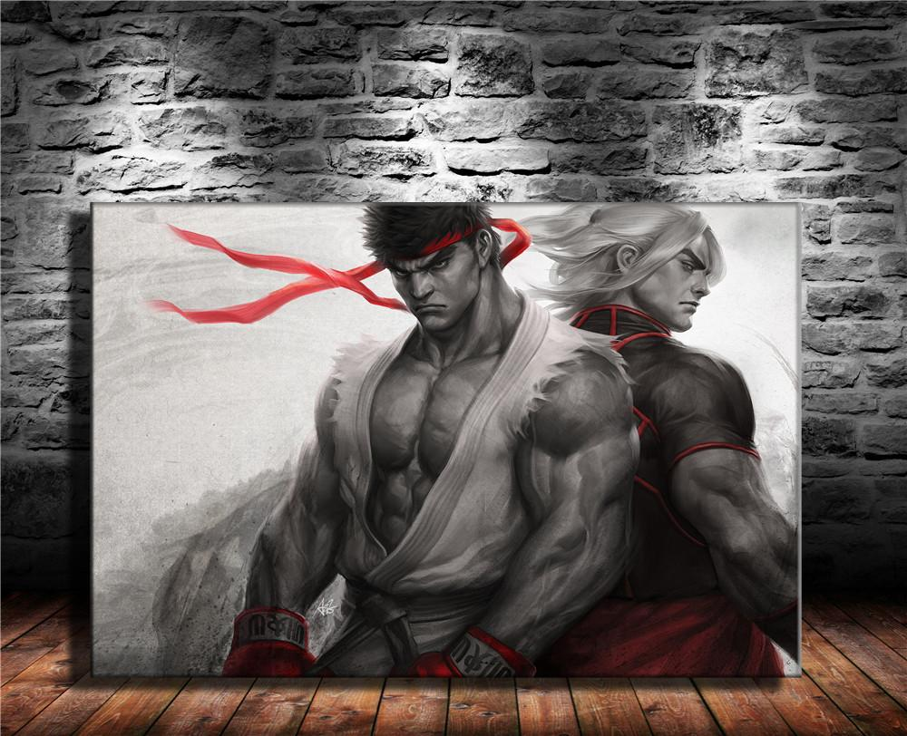 2019 Ryu Ken Street Fighter Vhome Decor Hd Printed Modern Art