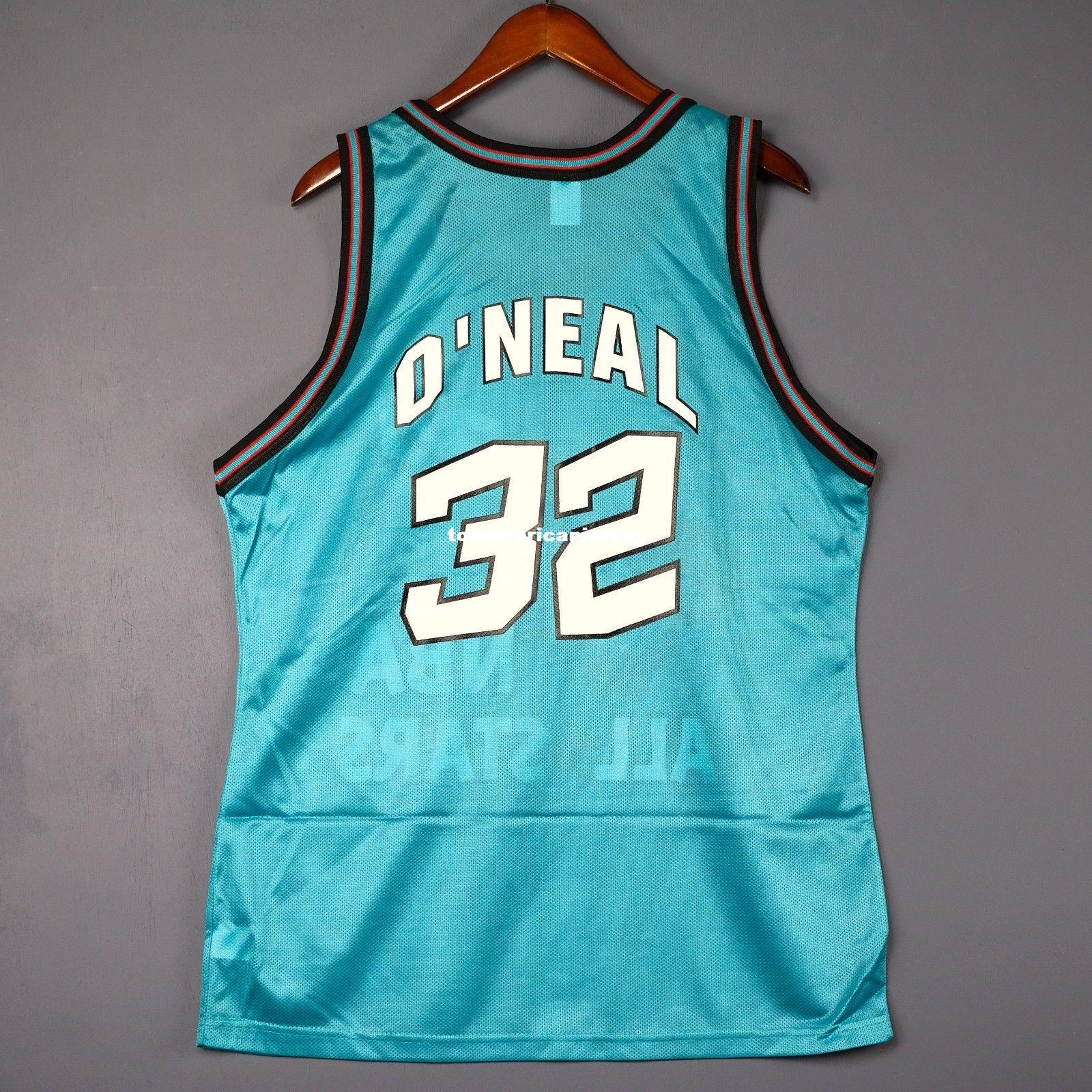 100% Stitched  32 Shaquille O Neal Champion 1996 All Star Jersey M Shaq  Mens Vest Size XS 6XL Stitched Basketball Jerseys Ncaa UK 2019 From ... 740f01e49