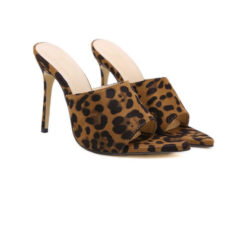 51d03c010b3c Women Designer Slippers Women Slippers New Sexy Pointed Leopard Print High  Heeled Womens Shoes Hot Sale New Arrival Fashion Fluffy Slippers Suede  Boots ...
