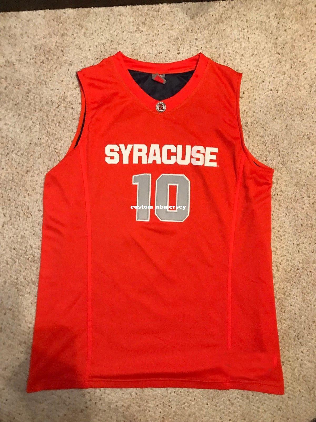 2019 Cheap Custom 2009 Syracuse Orange 10 Basketball Jersey Jonny