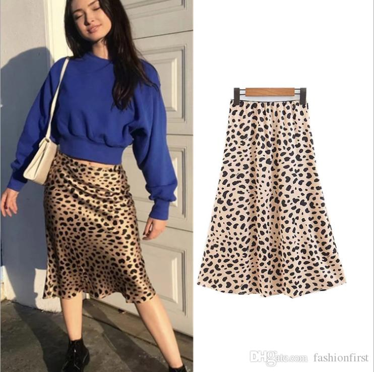 aa58a01981 2019 Beautiful Leopard Print Skirt Beach Sexy Women Flowy High Waisted Silk  Style Midi Date Night Evening Winter Animal Print Holiday Party Skirt From  ...