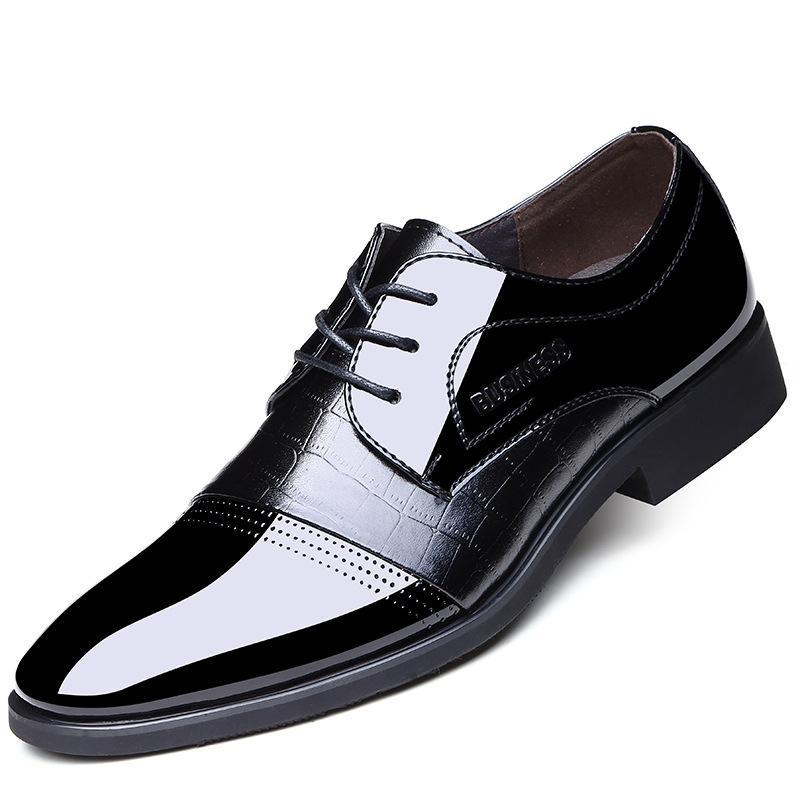 Formal La Moda Negocios Informal Simples Vestido Cordones Zapatos Los Cuero Oxford Oficina De Hombres Boda Con 0O8knwPX