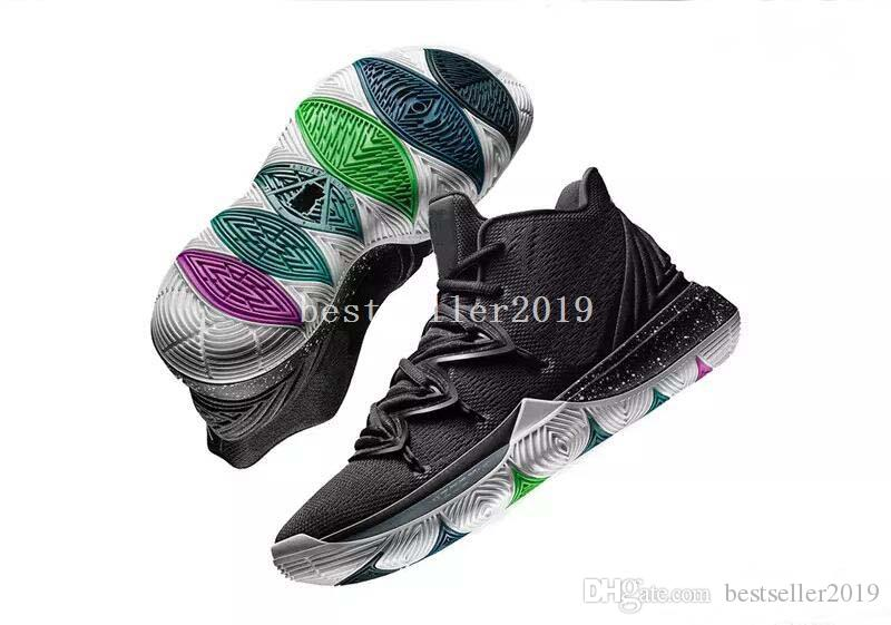 premium selection 68e4c 75a45 Großhandel 2019 Limitierte 5 5 S Basketballschuhe Black Magic Für Top  Qualität Kyrie Chaussures De Basketball Herren Trainer Sneakers Zapatillas  Mit Box Von ...