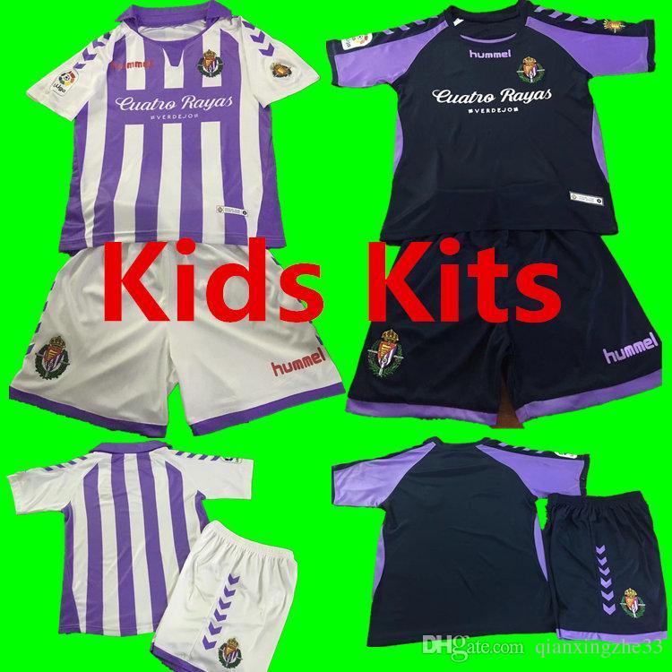 Compre Gratis 18 19 New Valladolid Kids Kits Camisetas De Fútbol 2018 2019  HOGAR De Distancia Real Valladolid Jaime Mata Michel Borja Luismi Jaime  Camisetas ... 618a51edb0ee8