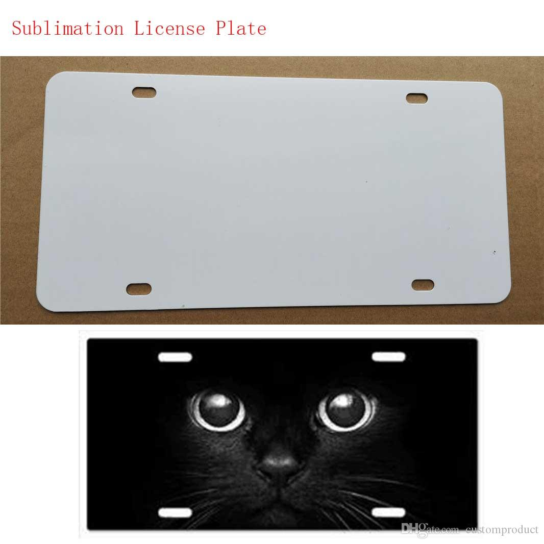 New style sublimation blank metal car License plate item product hot heart transfer printing diy custom consumables 29.5*14.5CM