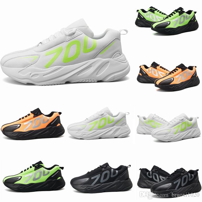 1b9acc0b3485a 2019 Cheap New Wave Runner 700 Seankers For Mens Kanye West Running Shoes  Black White Green Orange Men Designer Athletics Sneaker Running Shoes For  Men ...