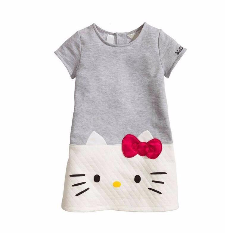 63e88cd65 2019 HOT Baby Girls Summer Dresses Hello Kitty 2019 Brand Children Dresses  For Girls Princess Dress Christmas Kids Clothes From Victorys09, $24.73    DHgate.