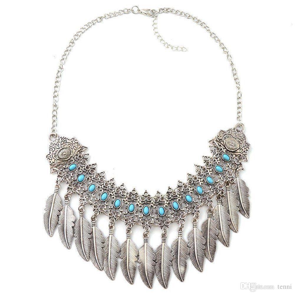 48e2c422dbef Compre Colgante Collar Retro Exquisito Elegante Colgante Mujer Deja  Clavícula Accesorios Collar De Joyería A  35.11 Del Tenni