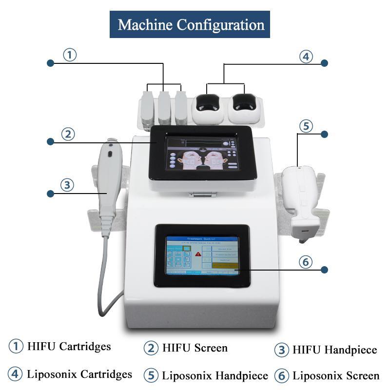 corpo Liposonix non chirurgico alta intensità doppio schermo dimagrante macchina focalizzata dispositivo riduzione del grasso ascensore Liposonix HIFU faccia ultrasuoni