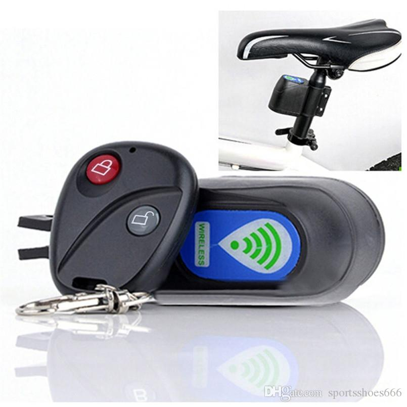 Wireless Alarm Lock Bicycle Bike Security System With Remote Control Anti-Theft 2017 #137397