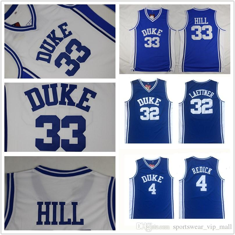 buy popular 76c3b b2c0f Men Duke Blue Devils Jersey 33 Grant Hill 4 JJ Redick 32 Christian Laettner  blue white All Stitched College Basketball jerseys Cheap
