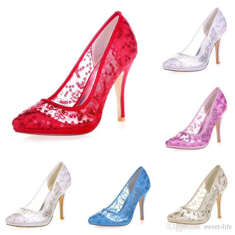 Bridal Shoes Selfridges: 0255 32 Ivory High Heels Women Pump Prom Party Evening