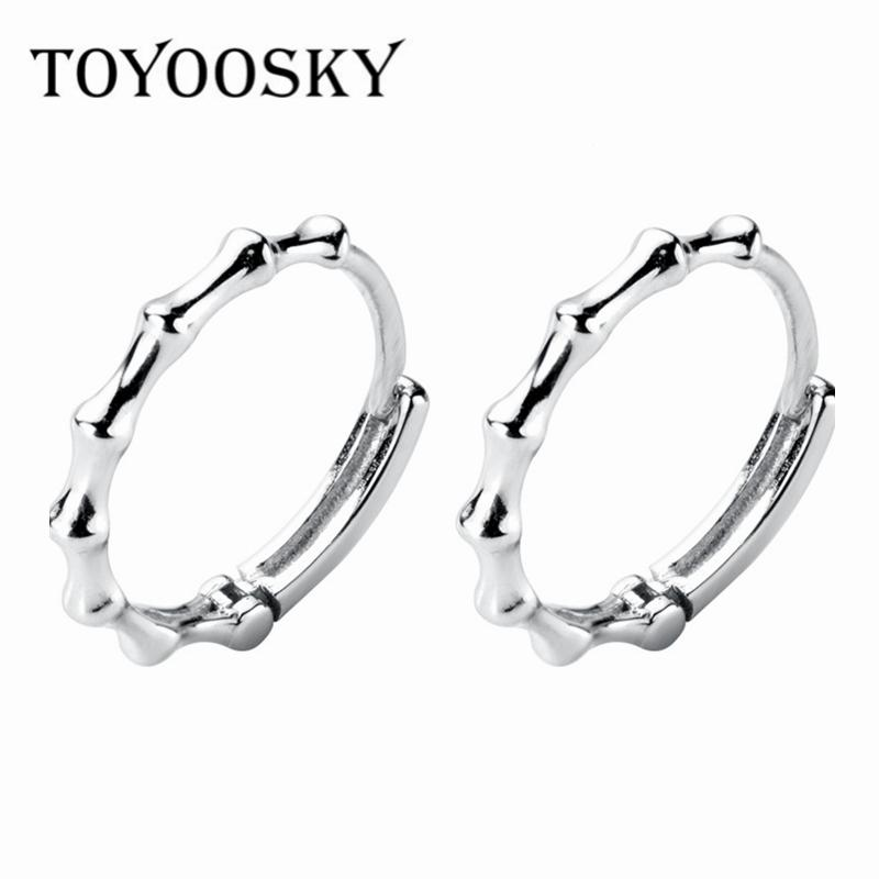 6020f9ded 2019 Minimalist 925 Sterling Silver Bamboo Shape Earrings Hoops For Women  Girls New Arrival Trendy Silver Jewelry Wholesale Gift 2019 From Fotiaoqia,  ...