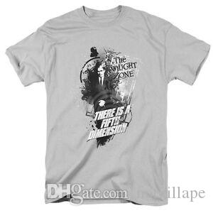 Twilight Zone TV Show THERE 039 S A FIFTH DIMENSION Adult T Shirt All Sizes