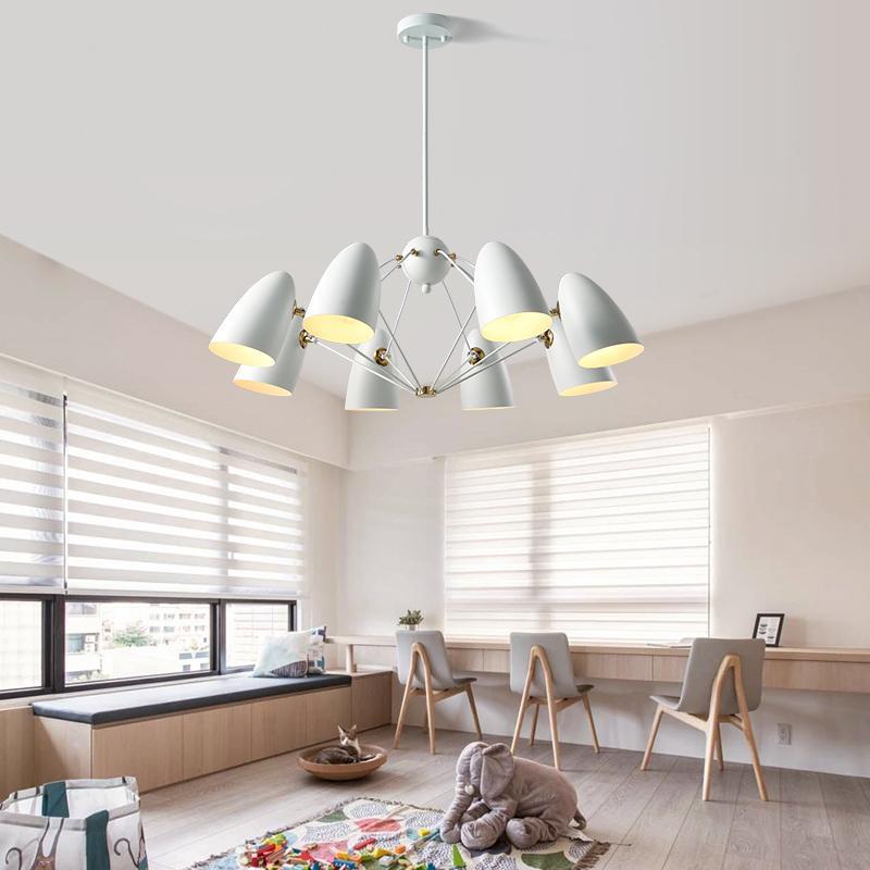 Acheter Moderne Blanc Araignée Lustre éclairage Chambre étude