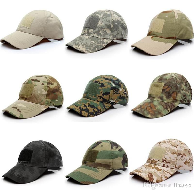 dd6ac8af83987 23 style Outdoor Sport Snapback Caps Camouflage Hat Simplicity Tactical  Military Army Camo Hunting Cap Hat For Men Adult Cap dc313