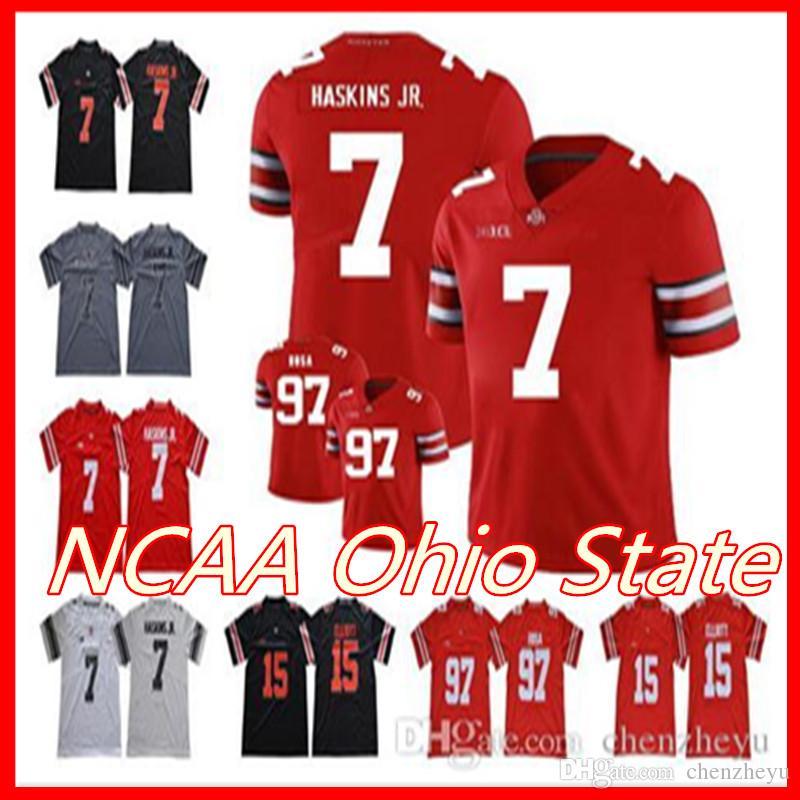 best website 0c8e1 4b7a5 2019 NCAA Ohio State Jersey Buckeyes 1 Justin Fields 7 Dwayne Haskins Jr.  97 Nick Bosa 15 Ezekiel Elliott College Football Jerseys