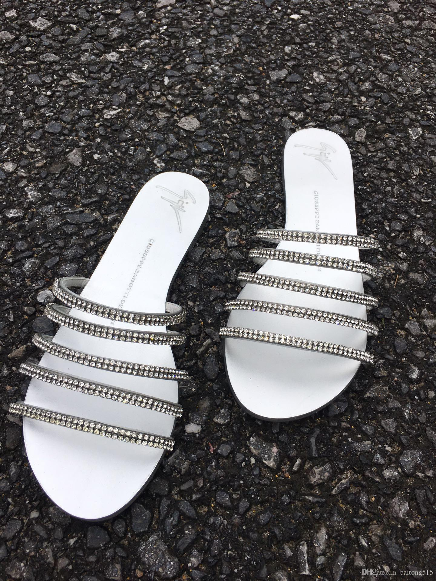 6e158c750 Stunning Bling Bling Women S Sandals Women S Shoes Rhinestone Chain  Gladiator Flat Bottom Thick With Crystal Sandals Sandal Ladies Shoes From  Baitong515