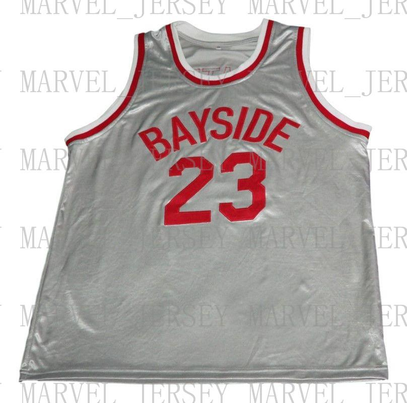5030224d2 Wholesale Slater  23 Bayside Saved By The Bell Basketball Jersey Silver Stitched  Custom Any Number Name MEN WOMEN YOUTH BASKETBALL JERSEYS Slater BASKETBALL  ...