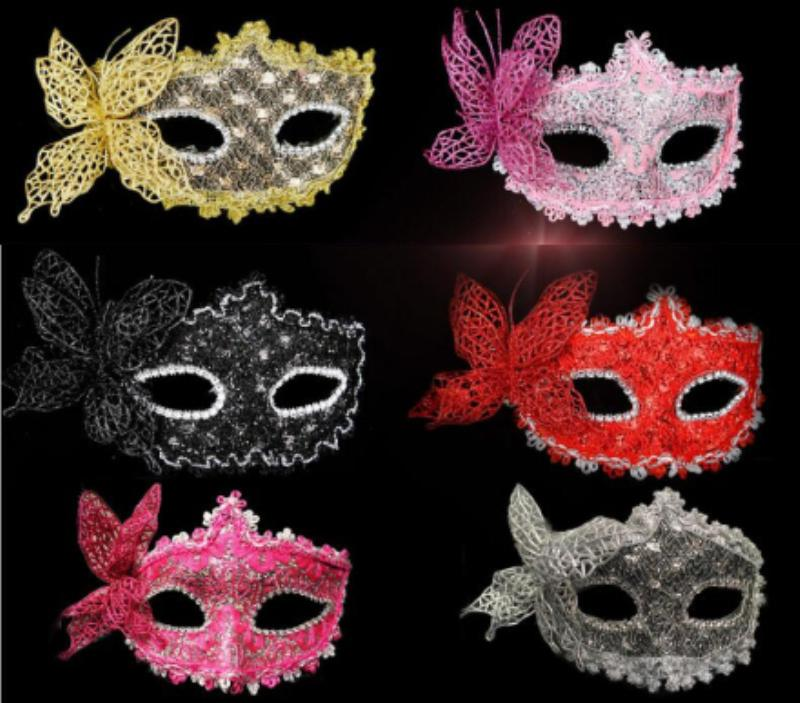 Party Mask Sexy Butterfly Half Face Princess Venetian mask Sexy Lace Masks Cosplay for Lady Girls Women