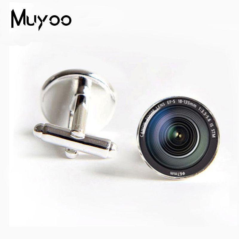 New Fashion J-269 wholesale DSLR Lenses Cufflinks Camera Lens Cuff link Cufflinks For Mens brand Cuff Button