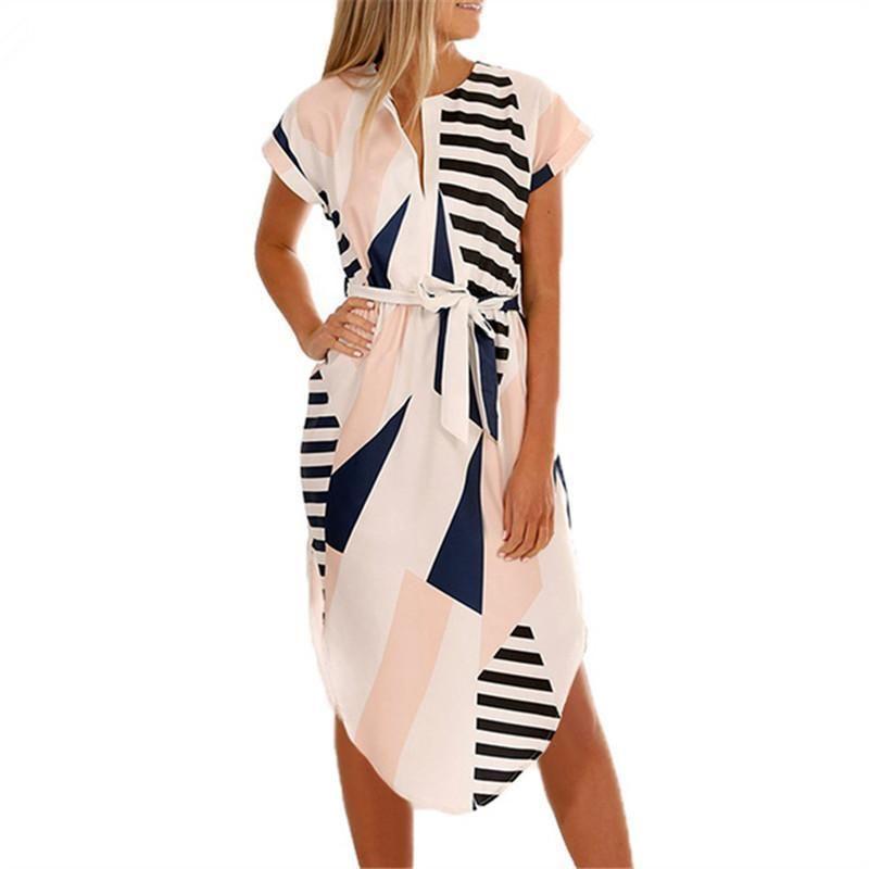 c2ac2a1c1a8f Women Dress 2019 Summer Sexy Geometric Print Boho Style Beach Dress Bodycon  Bandage Mid Party Dresses Vestidos De Fiesta Cocktail Dresses Juniors Grey  ...