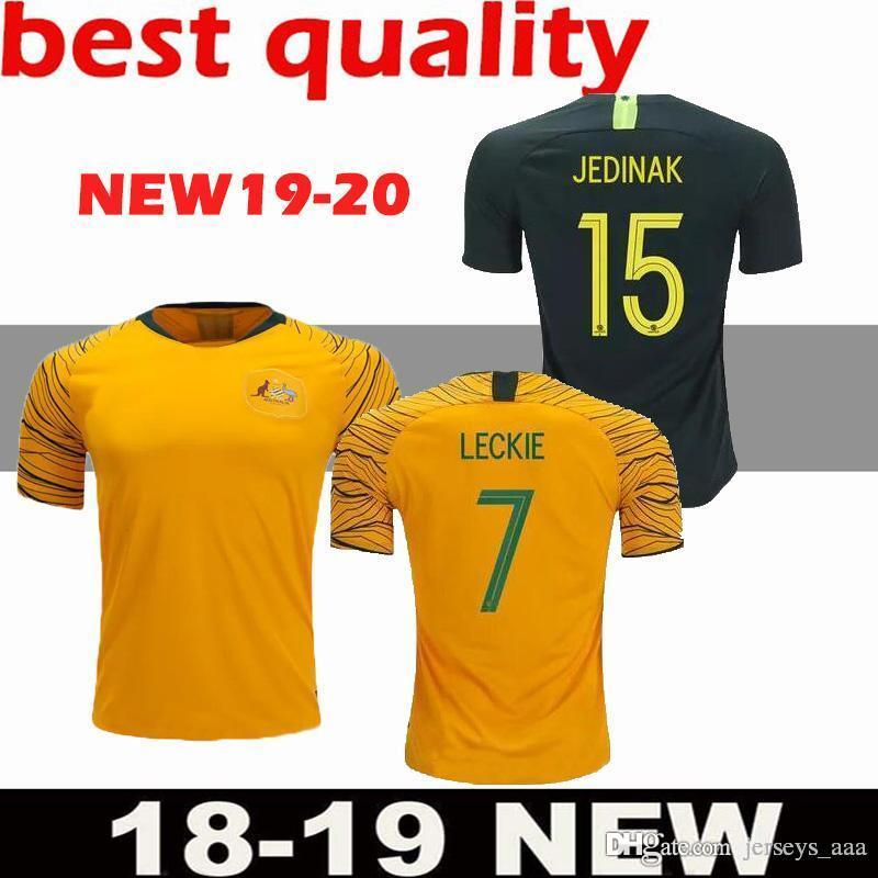 5898c42d7 2019 2018 Australia Soccer Jersey Home Yellow Away Green 2018 2019 JEDINAK  LECKIE MILLIGAN CAHILL Football Shirts Top Quality Cstomize Free From  Jerseys aaa ...