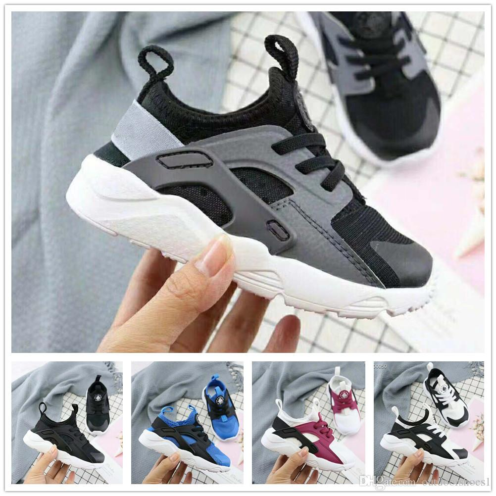 info for ad195 cb3d5 Air Huarache infant Running Shoes kids sports White Children Huaraches  Casual trainers Baby Running Sneaker boys girls birthday gift 6C-3Y