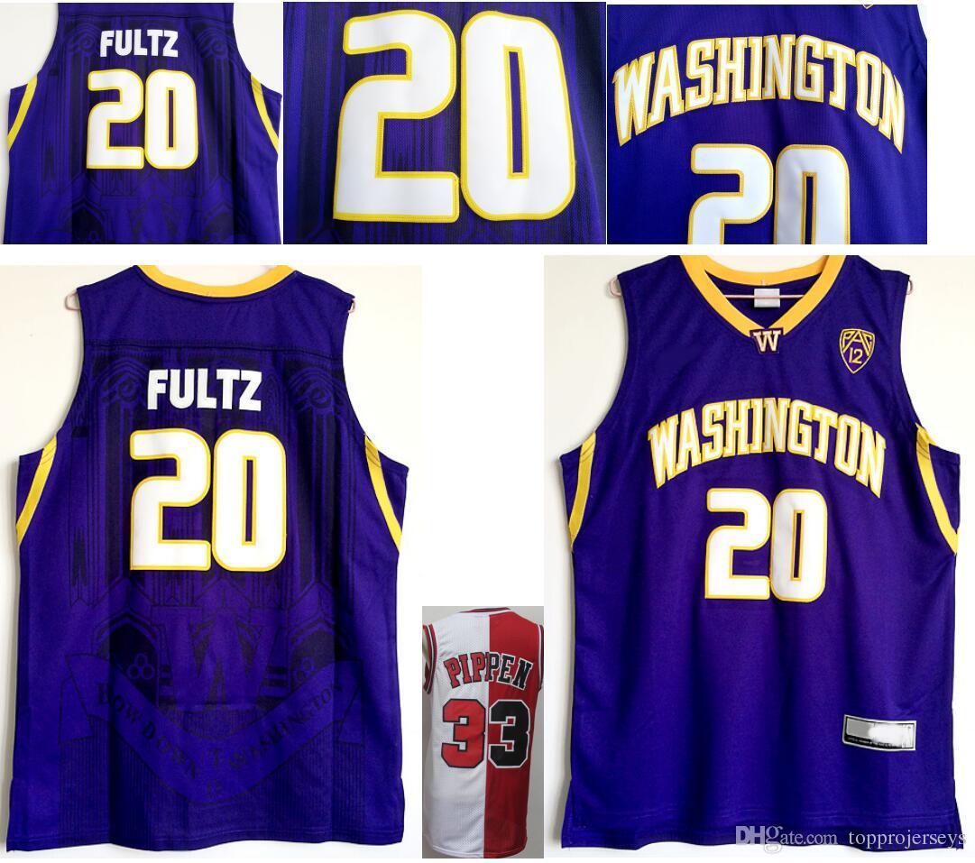 13ece7e77e1 Compre Mens Washington Huskies   20 Markelle Fultz College Nuevas Camisetas  De Baloncesto Vintage Chicago 33 Scottie Pippen Jerseys De Béisbol Cosidos  En ...