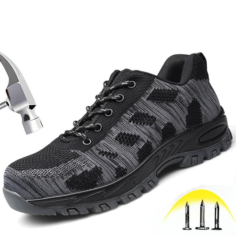 size 40 7f560 58cbc Ultra-light anti-piercing and Smashing safety shoes men s shoes breathable  work&safety steel toe boots