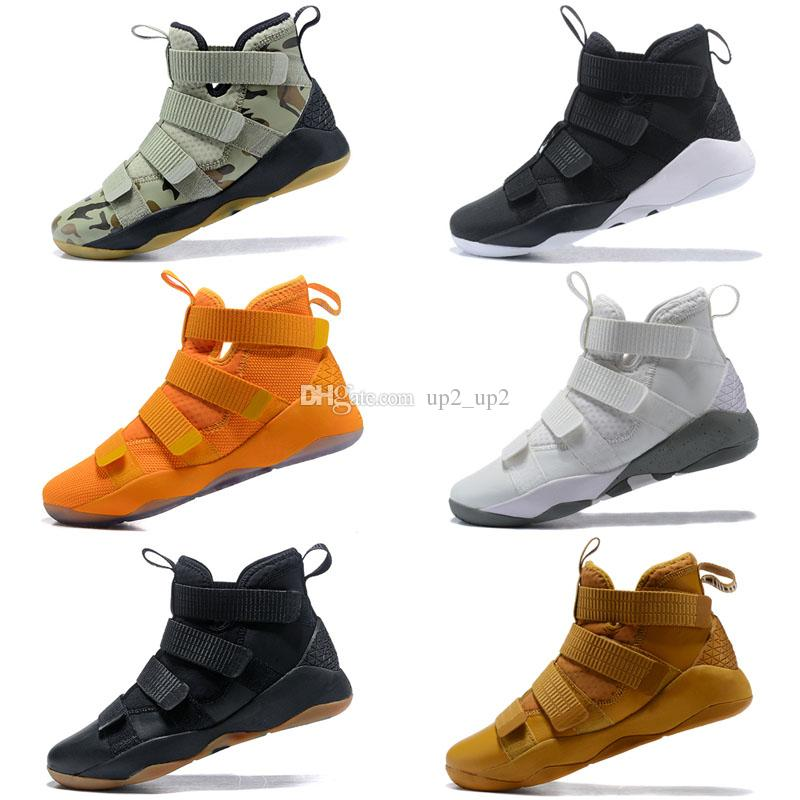 detailed look 75192 75276 2019 New Lebron Soldiers 11 Limited Edition BHM Cavs Court General Mens  Basketball Shoes Sports Finals Black Gold Purple Sneakers Size7-12