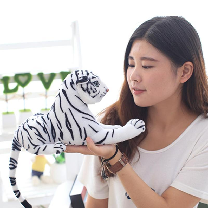 2019 New Cartoon White Tiger Plush Toys Kawaii Soft Simulation Animal Stuffed for Children Baby Kids G&B dolly Birthday Gift