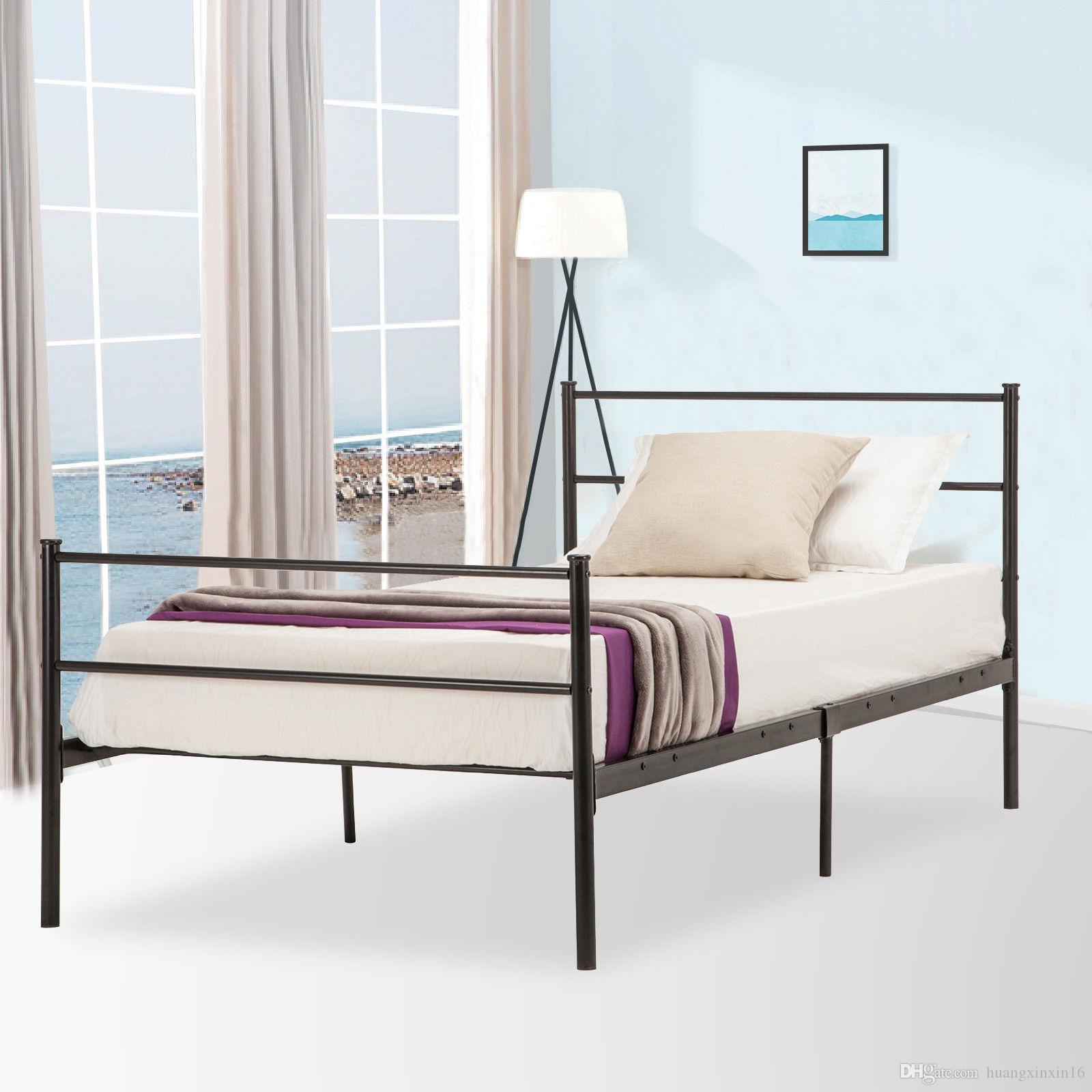 2019 twin size platform metal bed frame foundation headboard furniture bedroom from huangxinxin16 50 25 dhgate com